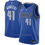 Camiseta Dallas Mavericks Dirk Nowitzki #41 2017-18 Azul