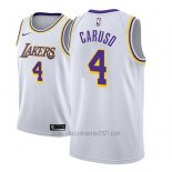 Camiseta Los Angeles Lakers Alex Caruso #4 Association 2018-19 Blanco