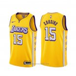 Camiseta Los Angeles Lakers Demarcus Cousins #15 Ciudad Amarillo