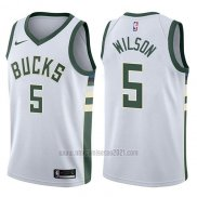 Camiseta Milwaukee Bucks D.j. Wilson #5 Classic 2018 Blanco