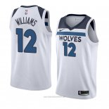 Camiseta Minnesota Timberwolves C. J. Williams #12 Association 2018 Blanco