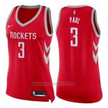 Camiseta Mujer Houston Rockets Chris Paul #3 Icon 2017-18 Rojo