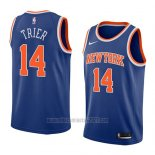 Camiseta New York Knicks Allonzo Trier #14 Icon 2018 Azul