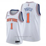 Camiseta New York Knicks Bobby Portis #1 Statement Blanco
