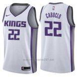 Camiseta Sacramento Kings Bruno Caboclo #22 Association 2017-18 Blanco