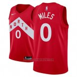 Camiseta Toronto Raptors C.j. Miles #0 Earned 2018-19 Rojo