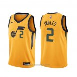 Camiseta Utah Jazz Joe Ingles #2 Statement Amarillo