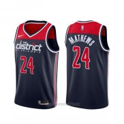 Camiseta Washington Wizards Garrison Mathews #24 Statement 2019-20 Azul