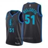Camiseta Dallas Mavericks Boban Marjanovic #51 Ciudad Negro