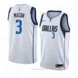 Camiseta Dallas Mavericks Daryl Macon #3 Association 2018-19 Blanco