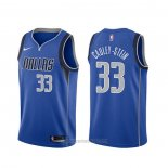 Camiseta Dallas Mavericks Willie Cauley-Stein #33 Icon Azul
