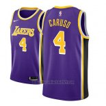Camiseta Los Angeles Lakers Alex Caruso #4 Statement 2018-19 Violeta