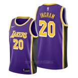 Camiseta Los Angeles Lakers Andre Ingram #20 Statement Violeta