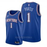 Camiseta New York Knicks Bobby Portis #1 Statement Azul