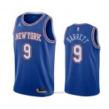Camiseta New York Knicks R.j. Barrett #9 Statement 2020-21 Azul