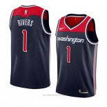 Camiseta Washington Wizards Austin Rivers #1 Statement 2018 Negro