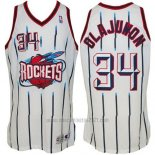 Camiseta Houston Rockets Hakeem Olajuwon #34 Retro Blanco