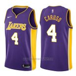 Camiseta Los Angeles Lakers Alex Caruso #4 Statement 2017-18 Violeta