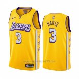 Camiseta Los Angeles Lakers Anthony Davis #3 Ciudad 2019-20 Amarillo