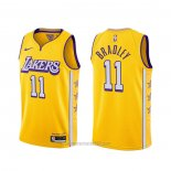 Camiseta Los Angeles Lakers Avery Bradley #11 Ciudad 2019-20 Amarillo