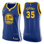 Camiseta Mujer Golden State Warriors Kevin Durant #35 Icon 2017-18 Azul