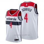 Camiseta Washington Wizards Admiral Schofield #4 Association 2019-20 Blanco