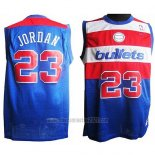 Camiseta Washington Wizards Michael Jordan #23 Retro Azul2