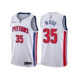 Camiseta Detroit Pistons Christian Wood #35 Association Blanco