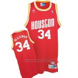 Camiseta Houston Rockets Hakeem Olajuwon #34 Retro Rojo