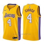 Camiseta Los Angeles Lakers Alex Caruso #4 Icon 2017-18 Oro