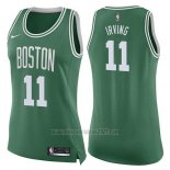 Camiseta Mujer Boston Celtics Kyrie Irving #11 Icon 2017-18 Verde