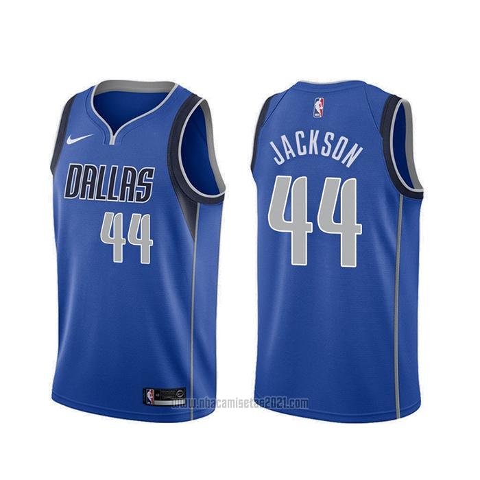 Camiseta Dallas Mavericks Justin Jackson #44 Icon Azul Baratas